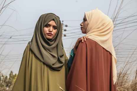 women s brown hijab